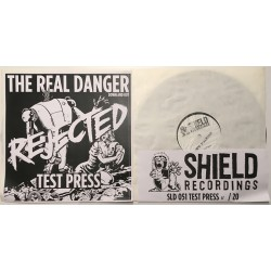 The Real Danger - Down and out LP - Rejected TEST PRESS