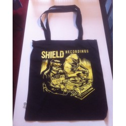"Shield ""Skull and Record player"" Shopping bag"